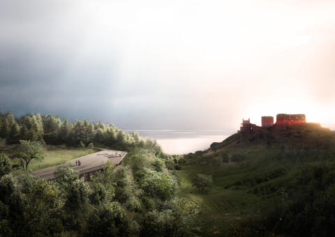 """Arkitema vinder den prestigefulde konkurrence om et nyt """"Besøgscenter Hammershus"""" på Bornholm"""