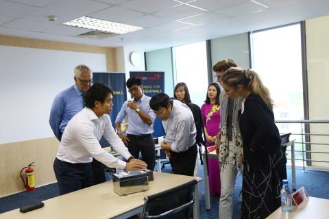 The Norwegian Embassy visiting TES Vietnam