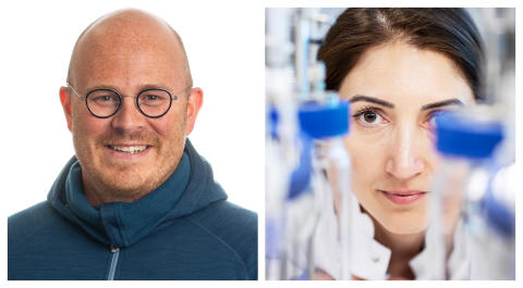 Emil Byström, CEO Spinchem, and Selin Kara Aarhus university