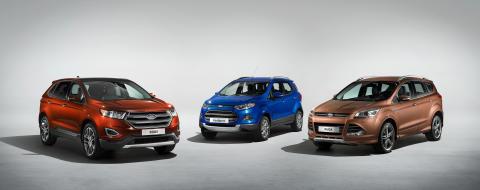 Ford's SUV-modeller; Nye Ford Edge som kommer i 2016, Ford EcoSport og Ford Kuga