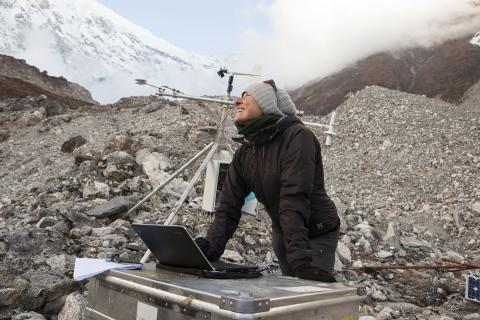 Only north-facing ice cliffs survive on debris-covered glaciers, find researchers