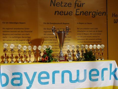 Pokale für die Sieger: In 22 Jahren ist rund um den Junior Cup ein professionelles Netzwerk aus Sport, Wirtschaft und Gesellschaft gewachsen.