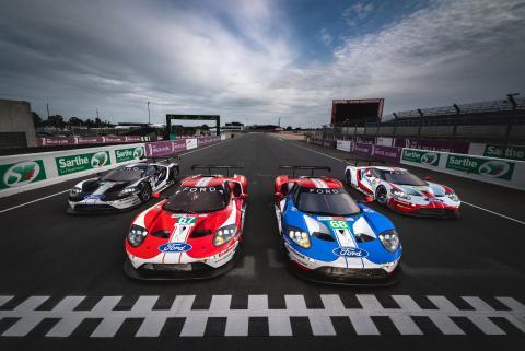 Ford står nu redo för uppgörelsen i Le Mans med fem specialdesignade Ford GT-bilar