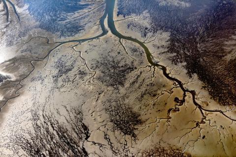 Das Wattenmeer von oben