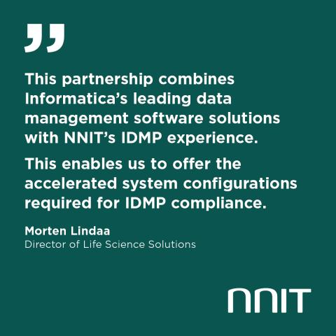 ​NNIT and Informatica partner on ISO IDMP solutions for life sciences
