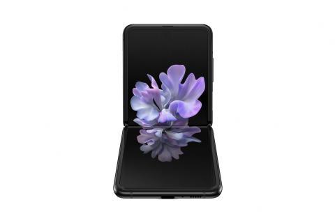 Samsung Galaxy Z Flip_front table top_black mirror