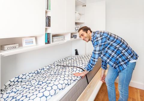 I sex av Brf Tindras fyra rum och kök finns FlexRum installerat.
