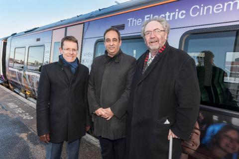 Andy Street, Mayor of the West Midlands; Jan Chaudhry-van der Velde, MD of West Midlands Trains; Cllr Roger Lawrence, Chair of West Midlands Rail