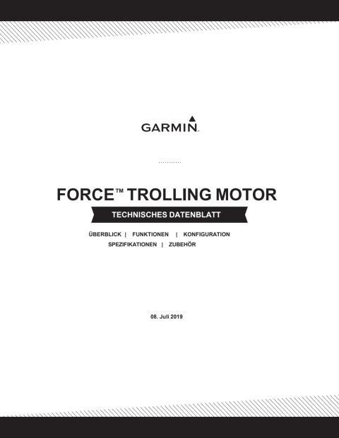 Datenblatt Garmin Force Trolling Motor