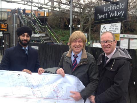 £2.3 million overhaul of Lichfield Trent Valley station underway to make it accessible for everyone