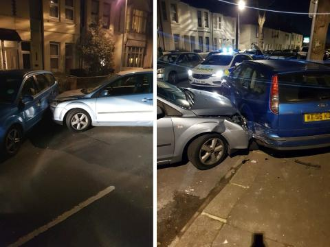 Driver who crashed into parked car convicted of multiple motoring offences