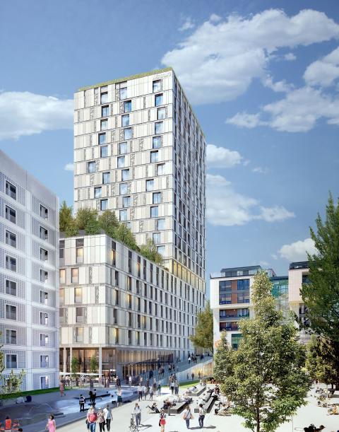 Rohbau für Turm am Mailänder Platz Stuttgart steht