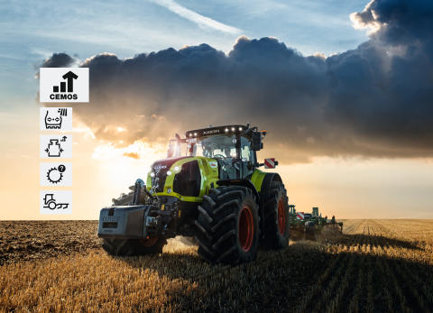 CLAAS launches the assistance system CEMOS for tractors