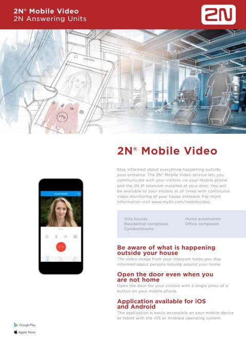 Porttelefoner från Gate Security - 2N Mobile Video