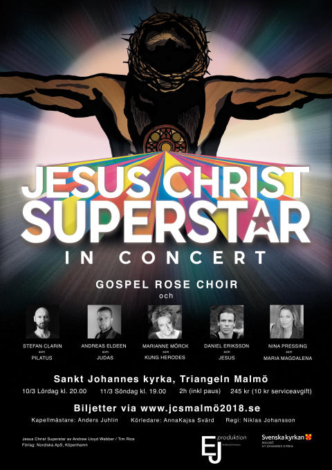 Jesus Christ Superstar äntligen tillbaka i Malmö. Nu i S:t Johannes kyrka.