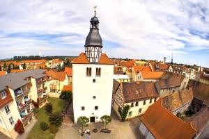 Blick auf die Stadt Groitzsch