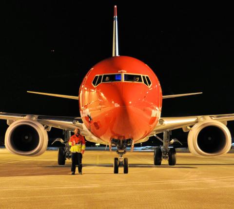 Norwegians LN-NGH precis levererad från Seattle till Gardemoen