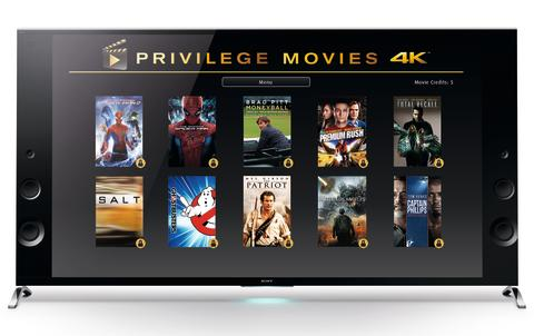 Sony offers 4K movie package for free to its 4K Ultra HD TV customers