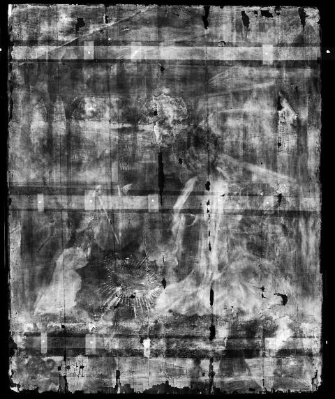 Bowes Museum panel Xray (photo credit Northumbria University and The Bowes Museum)