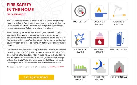 Fire safety quiz helping you to stay safe at home