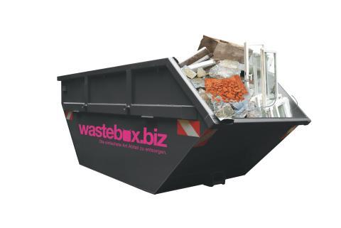 Wastebox Mulde freigestellt