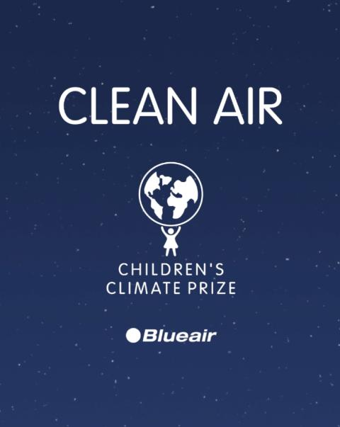 Blueair and Children's Climate Prize team up to fight air pollution