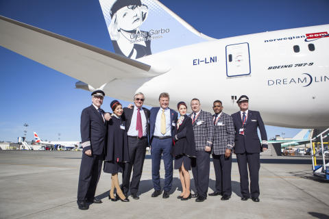Norwegian's first Boeing 787-9 Dreamliner delivery