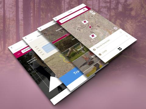 Helsana-Trails-App Pressebild