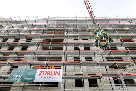 Richtfest für Projekte WATERKANT MAINZ und Super 8 Hotel in Mainz