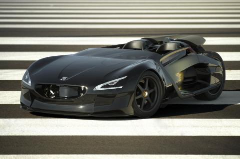 EX1 – Peugeots fulladdade skapelse på bilsalongen i Paris