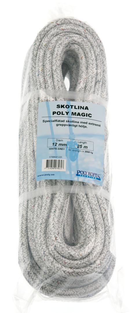 Poly Magic Matt, skotlina, vit-grå, förpackning