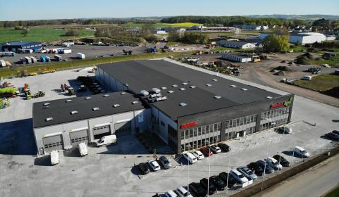 Anläggningen i Skurup stod helt färdig i början av april.