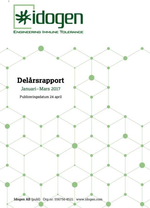 Delårsrapport Januari – Mars 2017