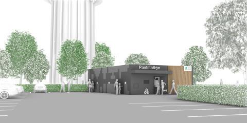 Pantstation ved Rødovre Centrum 2020