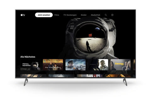 Apple TV App auf Smart TVs von Sony