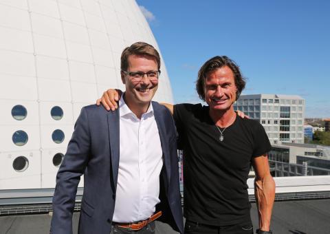 Jan Vikström, ägare och grundare till Lärande i Sverige och Petter Stordalen.