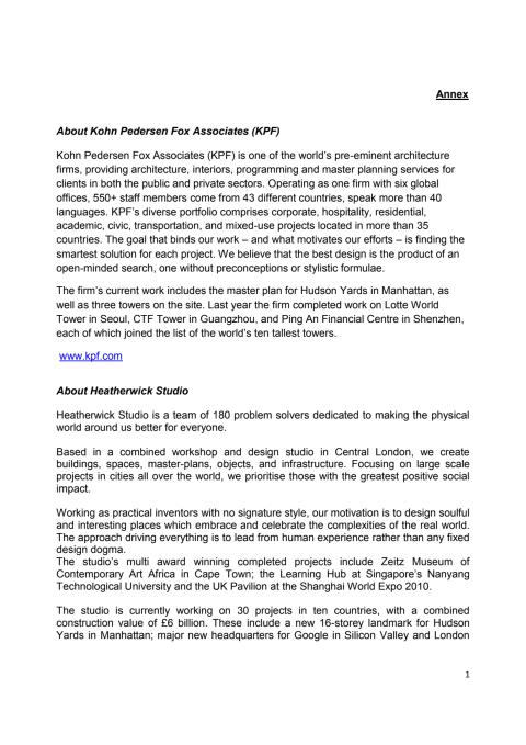 Annex - Brief profiles of the appointed firms