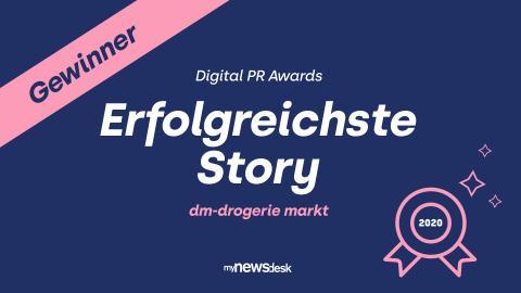 Danke für Ihr Interesse: dm-Newsroom liefert erfolgreichste Story