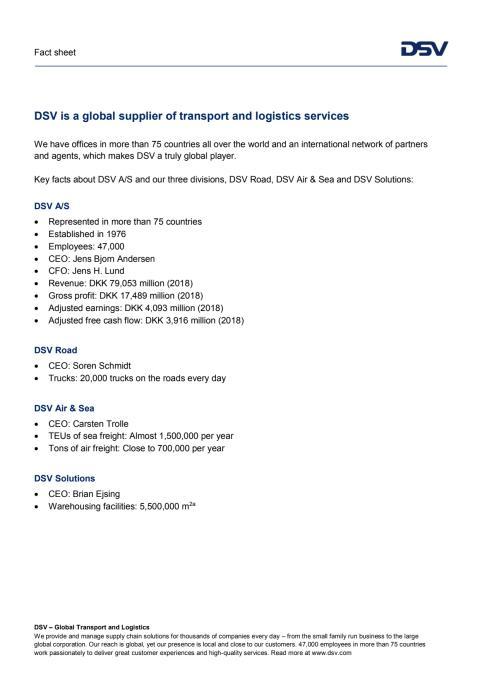 DSV Fact sheet