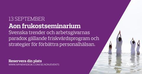Frukostseminarium | Svenska trender och arbetsgivarnas paradox gällande friskvårdsprogram och strategier för förbättra personalhälsan