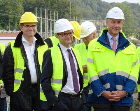 Bayernwerk Natur-Geschäftsführer Dr. Alexander Fenzl, Bayernwerk-Vorstandsvorsitzender Reimund Gotzel und Dr. Christian Barth, Amtschef Bayerisches Umweltministerium  (v.l.)