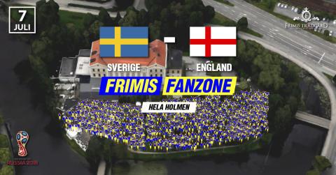 Frimis Fanzone, Hela Holmen, Sverige - England