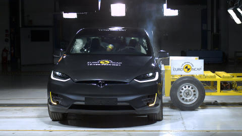 Tesla Model X side impact test Dec 2019