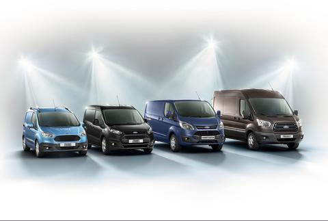 Ford Transit Courier, Ford Transit Connect, Ford Transit Custom og 2-tonns Ford Transit