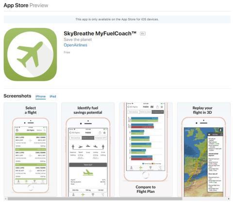 SkyBreathe iOS-laitteille
