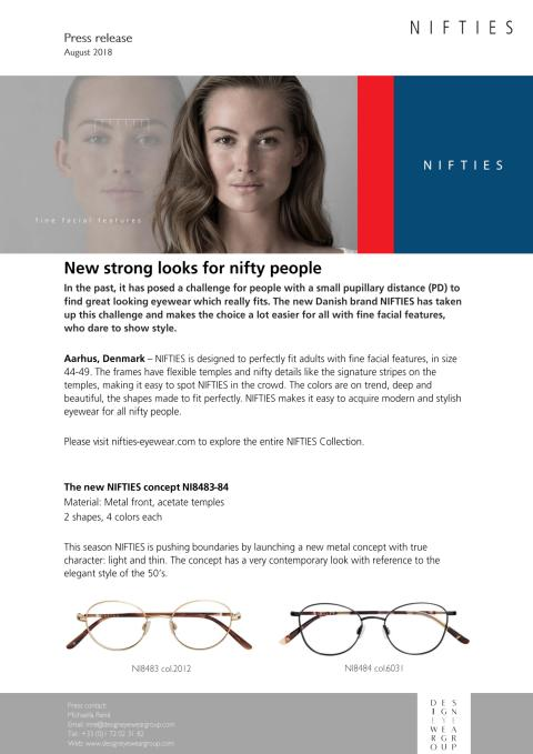 NIFTIES - New strong looks for nifty people