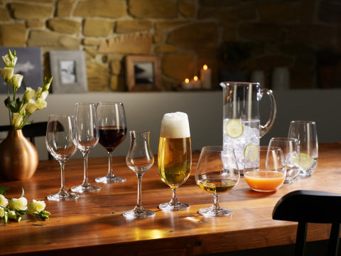 New colours and articles for successful glassware concepts: Boston Coloured, Colour Concept, Entrée and Purismo extended