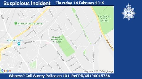 Enquiries ongoing after boy approached by man in Epsom