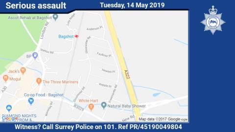 Witness appeal following assault and robbery in Bagshot