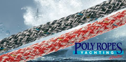 Bild med länk till pressrelease PolyRopes Fall-/Skotlina i ny färgsättning anno 2015!